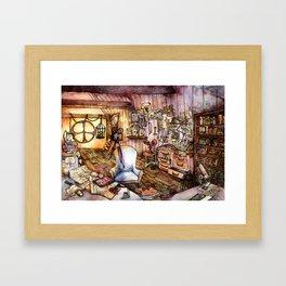 Very Flammable Dandelions Framed Art Print
