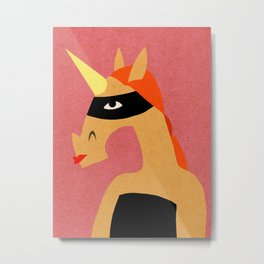 Masked Unicorn V03 Metal Print