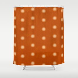 """Polka Dots Degraded & Orange Cream"" Shower Curtain"