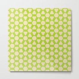 Pastel Green-Yellow Freeman Lattice Metal Print