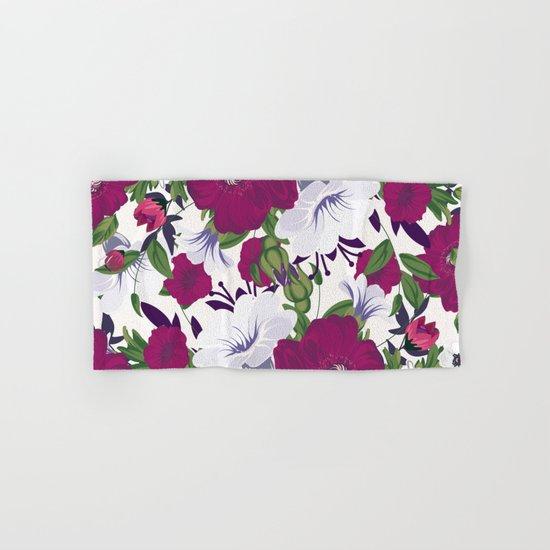 Purple Spring Flowers Hand & Bath Towel