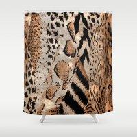 safari Shower Curtains featuring Safari by Colorful Art