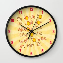 Sing Joyfully! Wall Clock