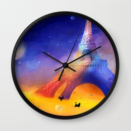Wonderland in colours Wall Clock