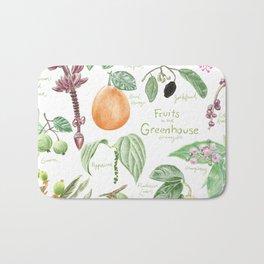 Wintertime Fruit in the Greenhouse Bath Mat