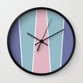 Cotton Candy Color Block Wall Clock