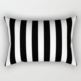 Classic Black and White Football / Soccer Referee Stripes Rectangular Pillow