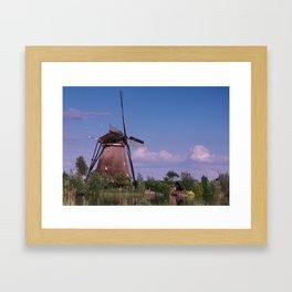 Evening In Kinderdijk Framed Art Print
