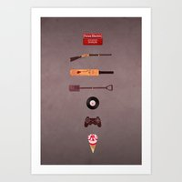shaun of the dead Art Prints featuring Shaun of the Dead by avoid peril