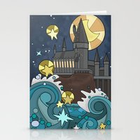 hogwarts Stationery Cards featuring Hogwarts by Lacey Simpson