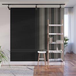 Modern Black Ribbon Pattern Design Wall Mural