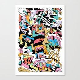 Electric Cliffs Canvas Print