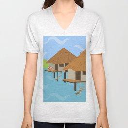 Hut hut Unisex V-Neck