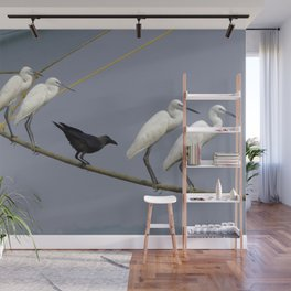 Egrets and crows Goa India Wall Mural