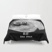 gta Duvet Covers featuring GTA Bike Glitch by JOlorful