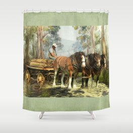 Clydesdale Timber Team Shower Curtain
