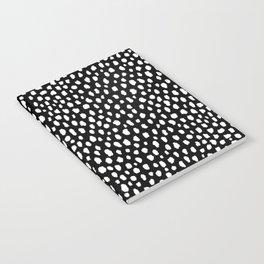 Handmade polka dot brush strokes (black and white reverse dalmatian) Notebook
