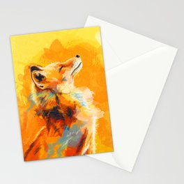 Blissful Light - Fox portrait Stationery Cards