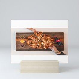 Pizza Slices (9) Mini Art Print