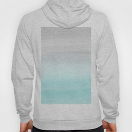 Touching Aqua Blue Gray Watercolor Abstract #1 #painting #decor #art #society6 Hoody