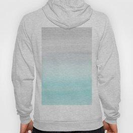 Touching Aqua Blue Gray Watercolor Abstract #1 #painting #decor #art #society6 Hoody