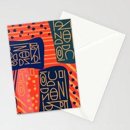 Strange alphabet Stationery Cards