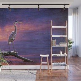 Mystical Heron Wall Mural