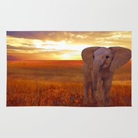 baby elephant Area & Throw Rugs featuring  Elephant baby by valzart