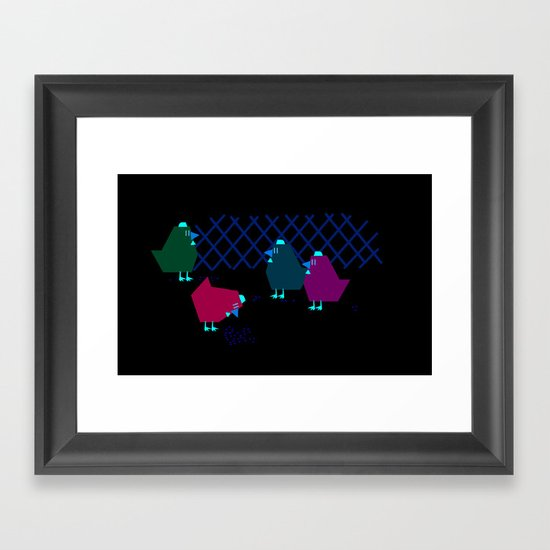 chicken house Framed Art Print