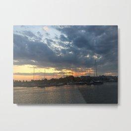 Harbour Sunset Metal Print
