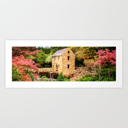 Colorful North Little Rock Old Mill Panoramic Landscape Art Print