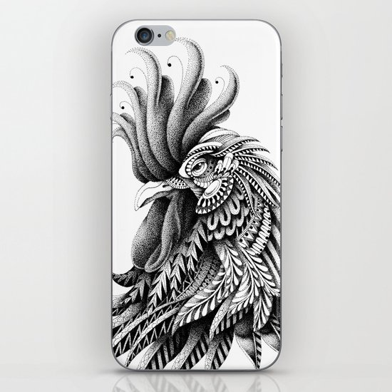 Ornately Decorated Rooster iPhone & iPod Skin