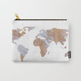 Rose Gold Marble Map - RoseGold World Carry-All Pouch