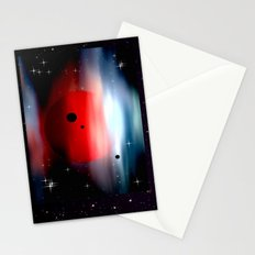 Planet deep in space. Stationery Cards