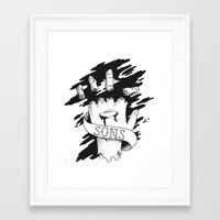 sons of anarchy Framed Art Prints featuring Sons of Anarchy - Hand by Christiano Mere