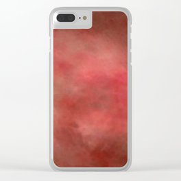 Abstract Watercolor Gradient Blend 2 Deep Red and Yellow Clear iPhone Case