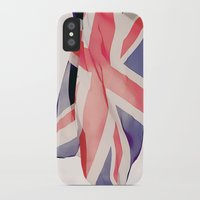 british flag iPhone & iPod Cases featuring British Flag by Rachael Jane