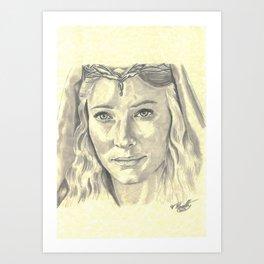 Galadriel - Lady of Light Art Print