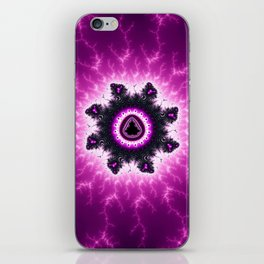 Purple Mandelbrot Fractal Art Print iPhone Skin