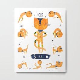 Yogini Cat Metal Print