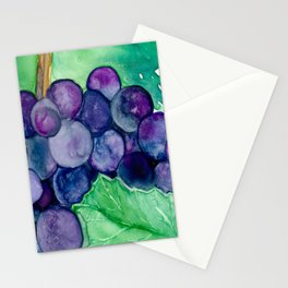 Wine Grapes Stationery Cards