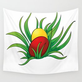 eggs in the grass Wall Tapestry