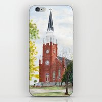 ohio iPhone & iPod Skins featuring Ohio Church by moepaints