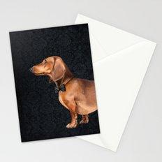 Elegant dachshund. Stationery Cards