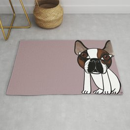 Joey, the french bulldog that thinks he's human Rug