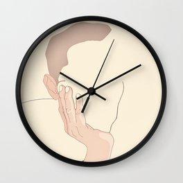 Minimal portrait of a man Wall Clock