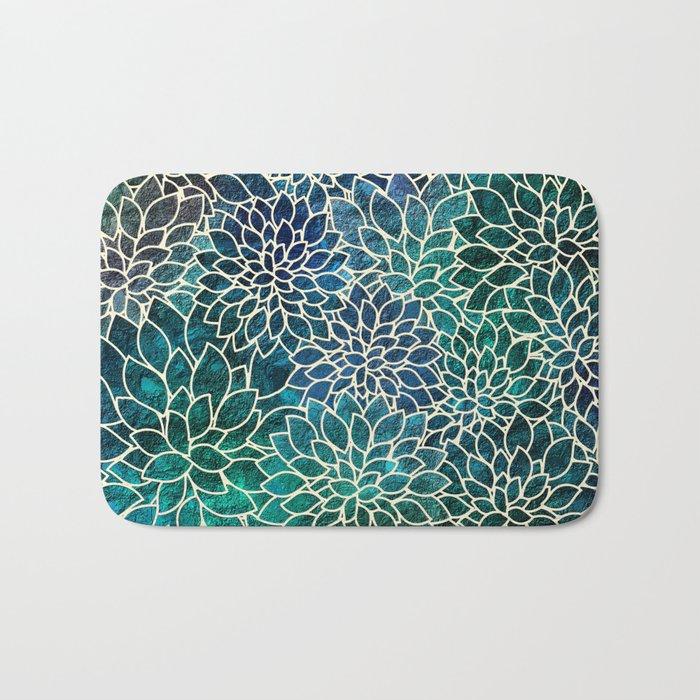 Floral Abstract 4 Bath Mat