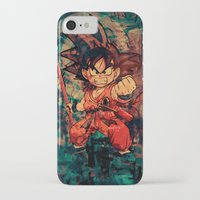 goku iPhone & iPod Cases featuring Kid Goku by Sirenphotos