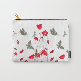 Tatemae Japanese White Carry-All Pouch