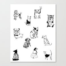 Stylish Pets Canvas Print